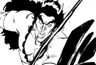 Charlotte cut by Toshiro's Sword
