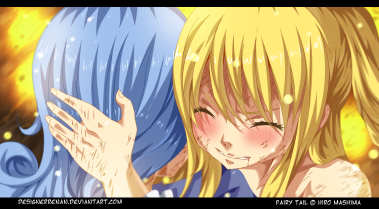 Fairy Tail 395 Don't Worry Juvia and Lucy by designerrenan