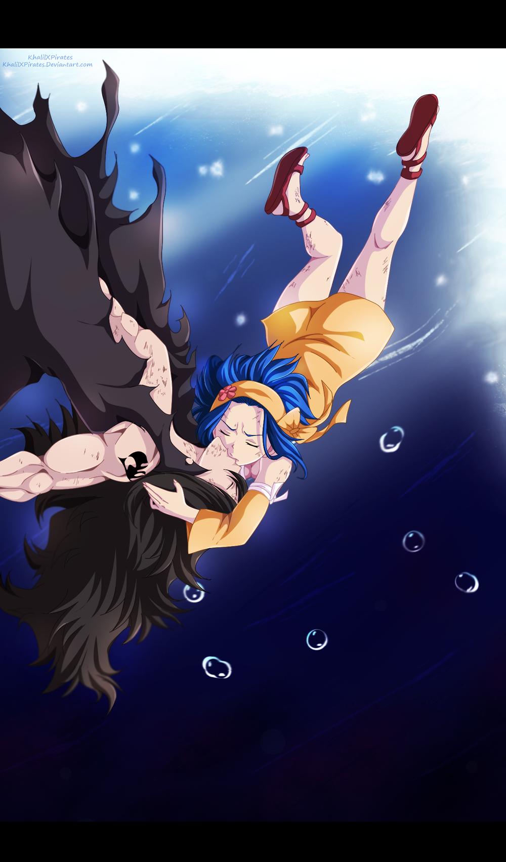 gajeel x levy kiss gajeel vs torafusa levy s kiss fairy tail 396