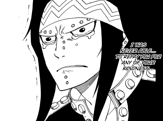 Gajeel's cry face