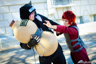 Give it back Gaara and Kankuro Cosplay by Nekomatalee