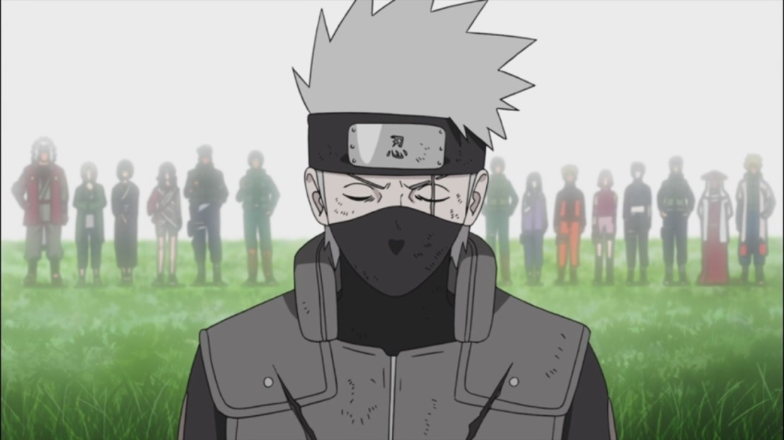 Kakashi thinks about his friends