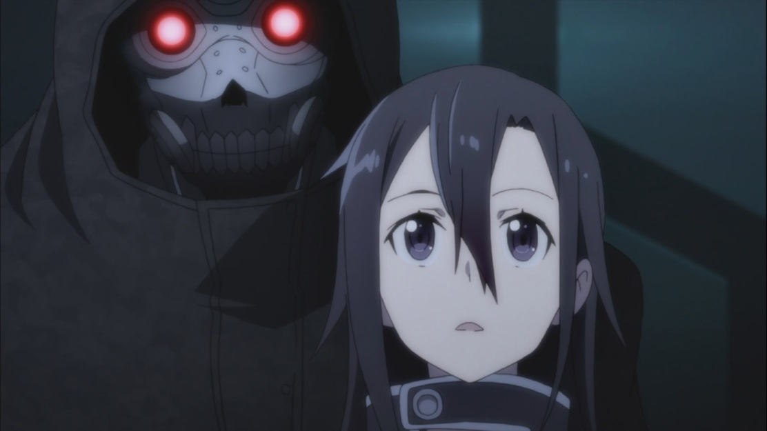 Kirito faced by Death Gun