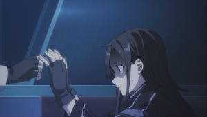 Kirito is scared