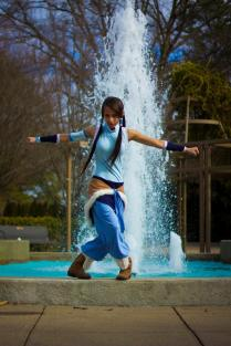 Korra Cosplay Balance Avatar by DomiGrowls