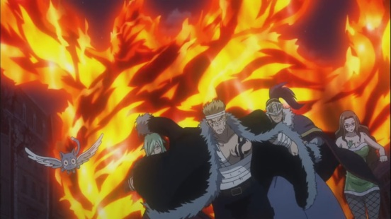 Laxus leaves Natsu to deal with Atlas Flames
