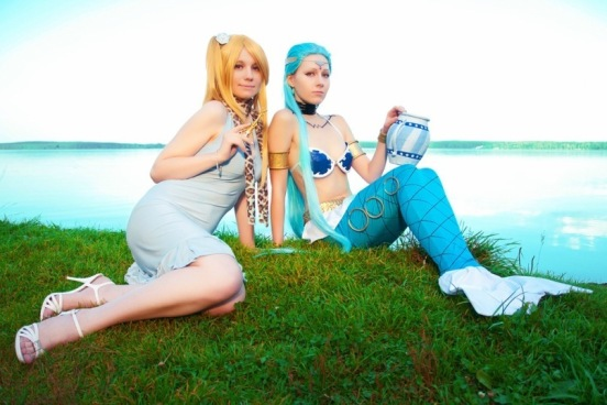 Lucy and Aquarius Cosplay by Ginkirii