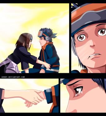 Naruto 687 Rin and Obito by uendy