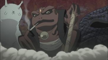 Naruto Sasuke Sakura summon Frog Snake Slug