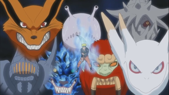 Naruto with 7 Tailed Beasts