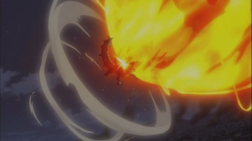 Natsu smashes Motherglare