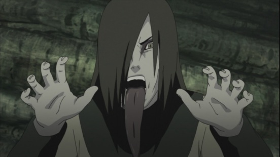 Orochimaru's scary face
