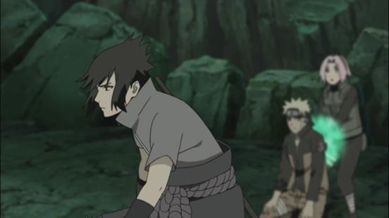 Sasuke arrives