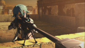 Sinon gets ready