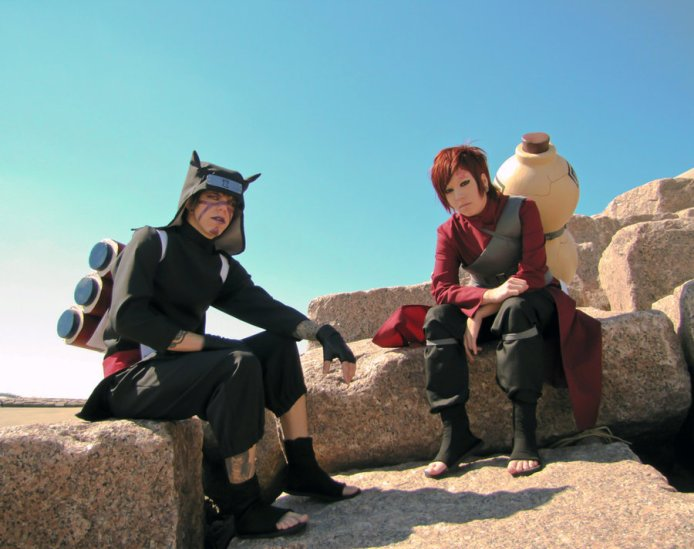 Stay Strong Gaara and Kankuro Cosplay by Nekomatalee