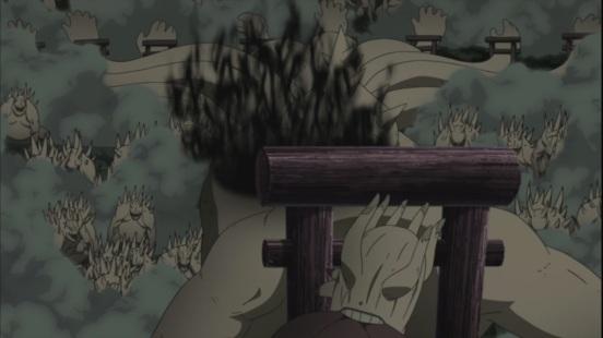 Ten Tails burns from Naruto Sasuke attack