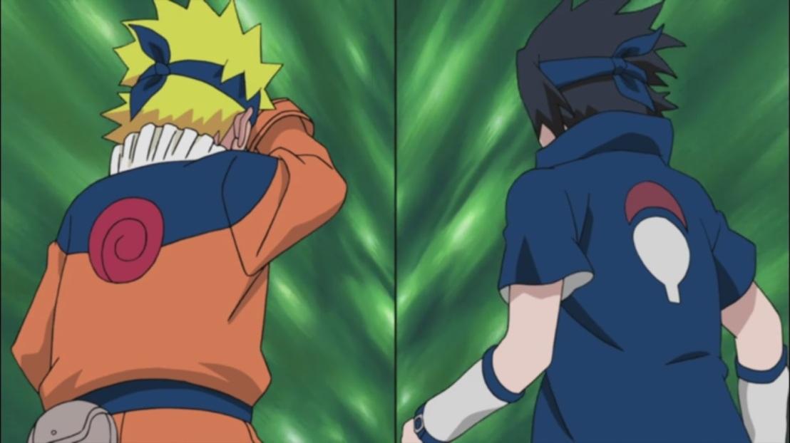 Younger Naruto and Sasuke