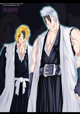 Bleach 595 Kensei and Rojuro by Gray-dous