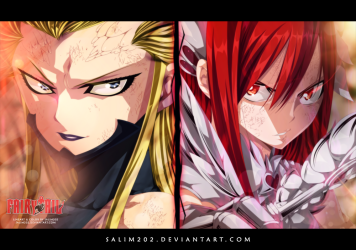 Fairy Tail 398 Erza vs Kyouka by Salim202