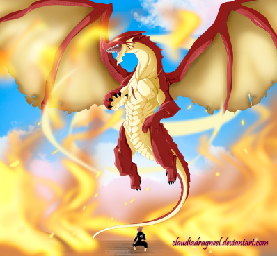 Fairy Tail 400 Igneel Appears by claudiadragneel