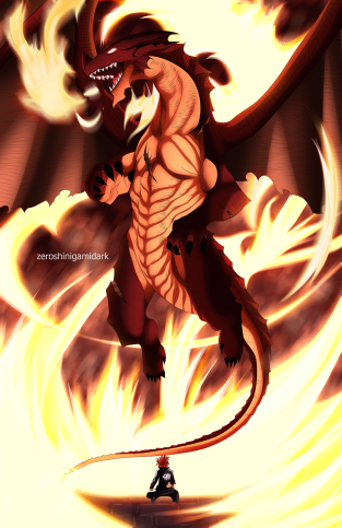 Fairy Tail 400 Igneel Appears by zeroshinigamidark