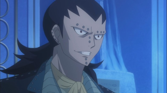 Gajeel suited up