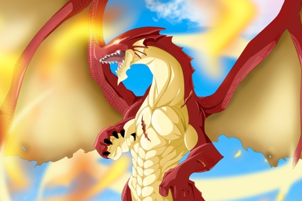 Igneel Appears From Natsu! Acnologia vs Igneel – Fairy Tail 400