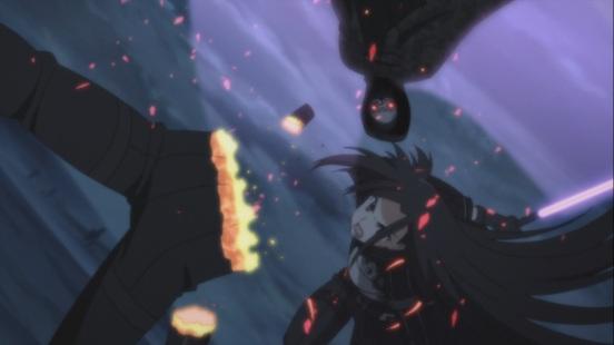 Kirito cuts Death Gun