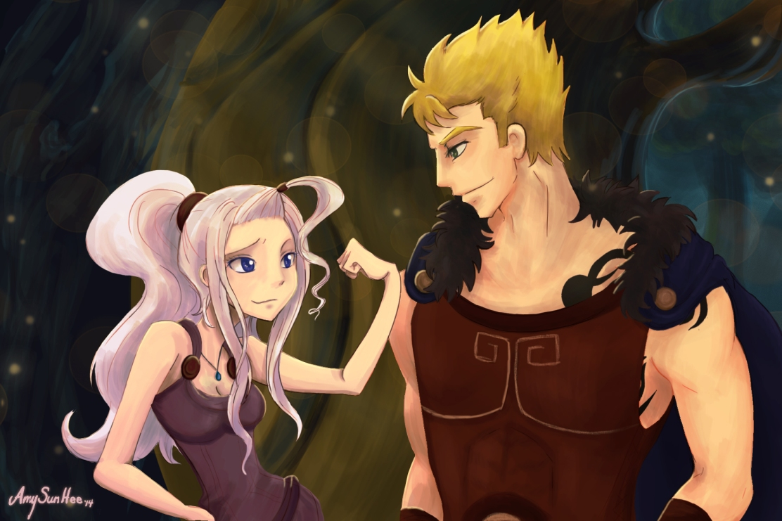 Mirajane and Laxus in Hercules by Sunhee2244