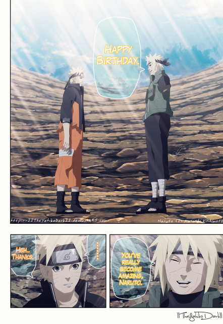 Naruto 691 Happy Birthday Naruto by IITheYahikoDarkII