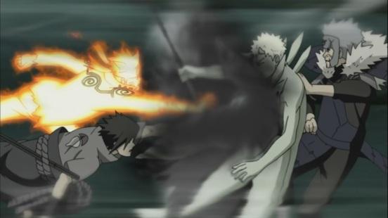 Naruto Sasuke Tobirama attack Obito