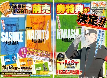 "Sasuke, Kakashi and more to appear in ""The Last"" Naruto TheMovie"