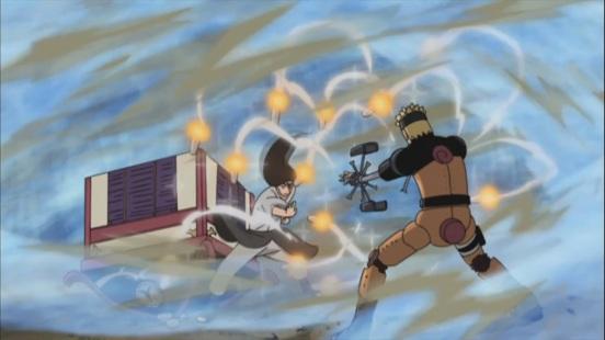 Neji targetted by Mecha Naruto