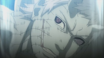 Obito hurt by Sage Mode
