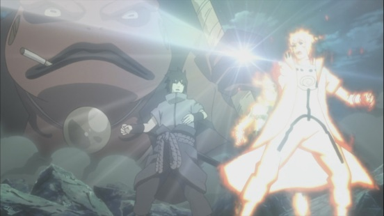 Obito's bomb on Minato