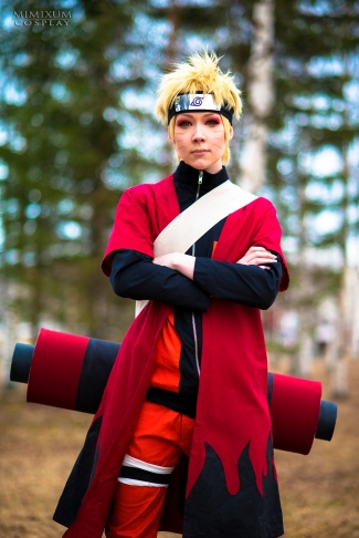 Uzumaki Naruto cosplay sage mode by mimixum