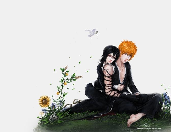 Bleach Ichigo and Rukia by americandork