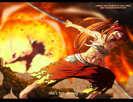 Fairy Tail 404 Erza defeats Kyouka by gray-dous