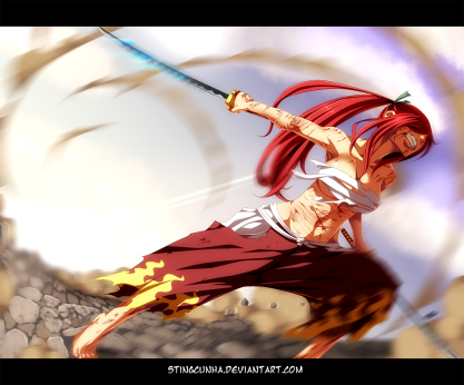 Fairy Tail 404 Erza Fights by Stingcunha