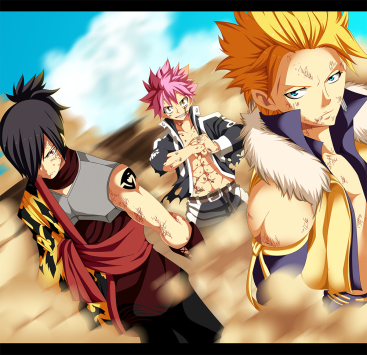 Fairy Tail 405 Natsu Sting and Rogue by kemucampos