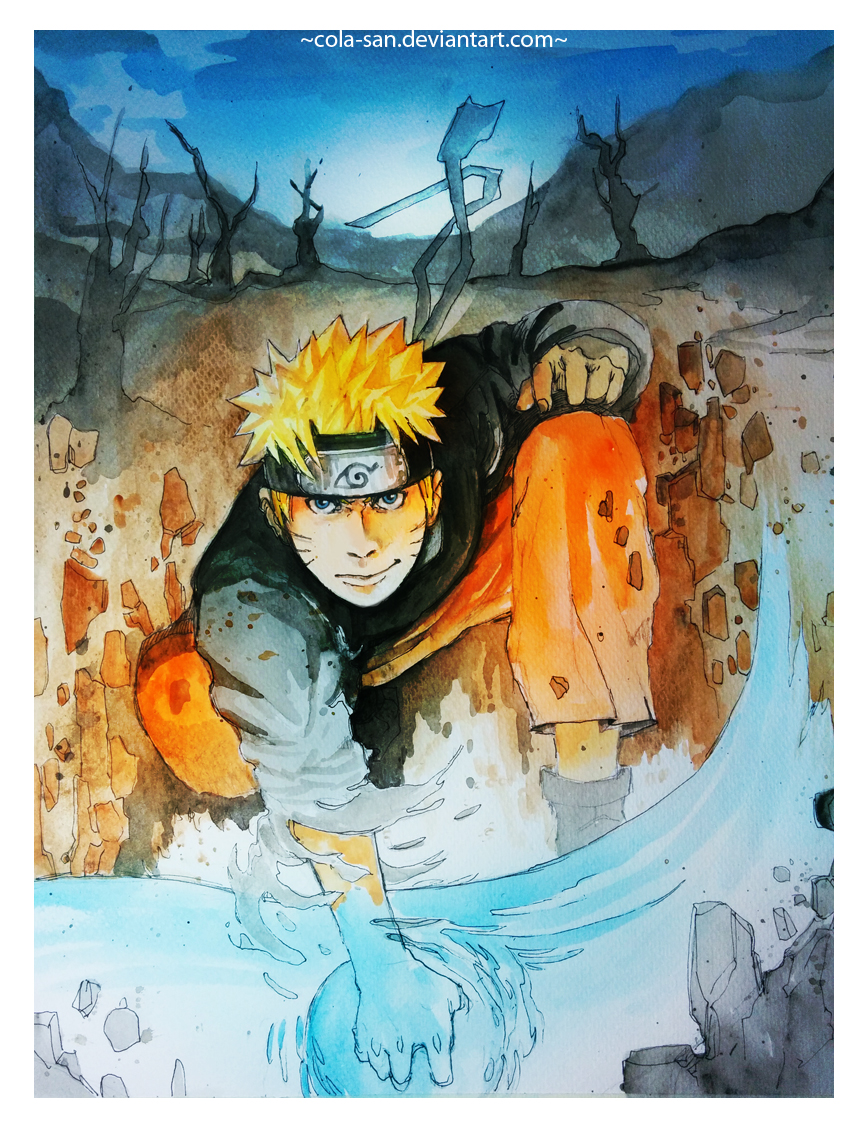 Ground Breaking Rasengan Naruto Uzumaki by Cola-san