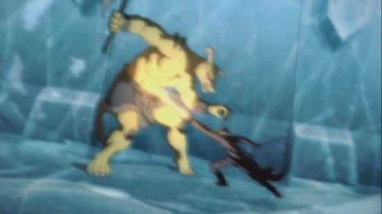 Kirito defeats beast