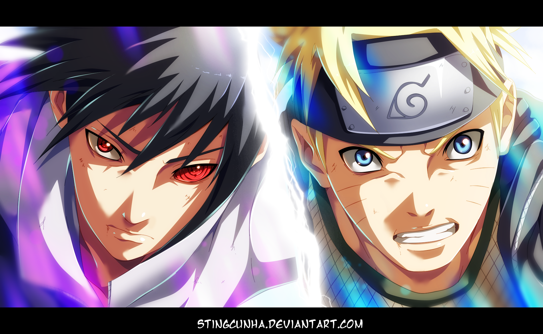 Naruto 694 naruto vs sasuke by stingcunha daily anime art - Naruto as sasuke ...