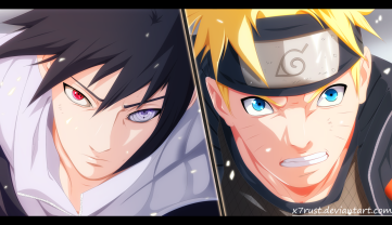 Naruto 694 Naruto vs Sasuke by X7Rust