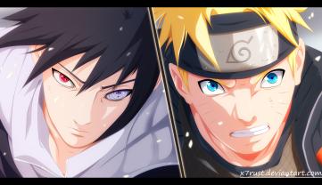 Naruto 694 Naruto vs Sasuke by X7Rust