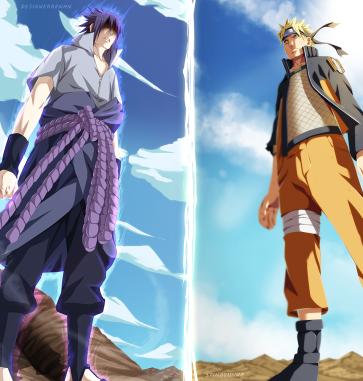 Naruto 694 Sasuke vs Naruto by Stingcunha