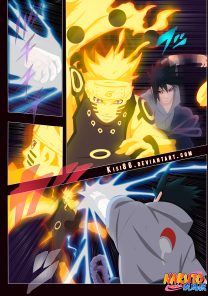 Naruto 695 Sasuke and Naruto by kisi86