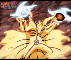 Naruto 696 Kurama Rasengan Bijuu Dama by hikarinogiri
