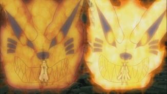 Naruto and Minato's Kurama Form