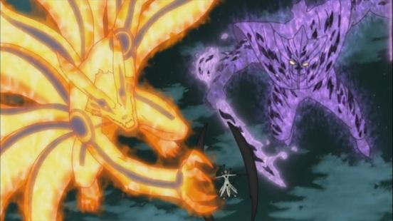 Naruto and Sasuke attack Obito